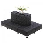 Cira Rectangle Seating Black
