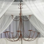 Wrought Iron Large Chandelier